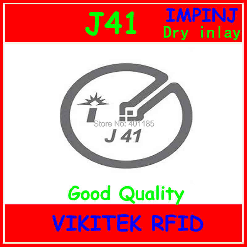 Impinj J41 UHF RFID dry inlay 860-960MHZ Monza4 915M EPC C1G2 ISO18000-6C can be used to RFID tag and label uhf rfid passive tags alien 9629 dry inlay 860 960mhz higgs3 epc c1g2 iso18000 6c can be used to rfid tag label 100pcs per roll