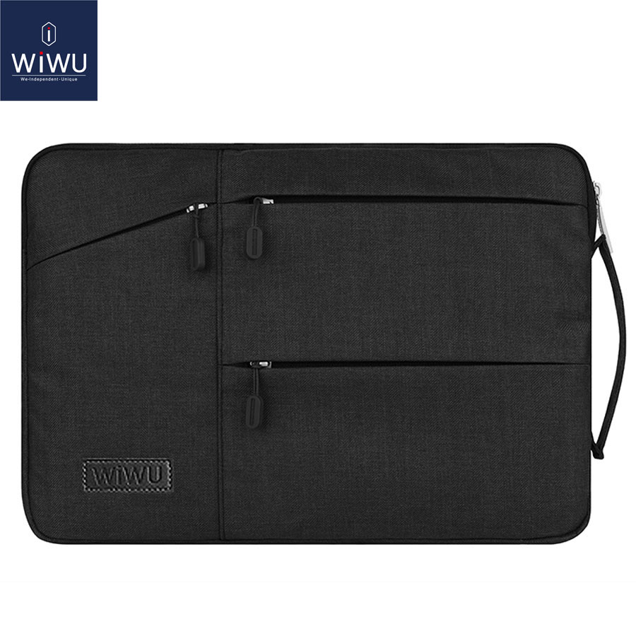WIWU Waterproof Laptop Bag Case for MacBook Pro 13 15 Air Bag for Xiaomi Notebook Air 13 Shockproof Nylon Laptop Sleeve 14 15.6 oatsbasf genuine leather laptop bag for macbook pro air 13 3 rose