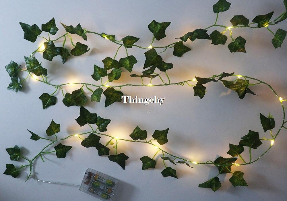 folhas de hera fadas levou luzes da corda 03