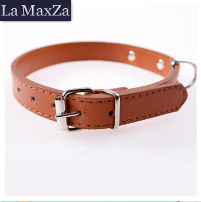2017 Hot Sale Pet Collars Dog Accessories PU Leather Dog Collars Fashion Bright Metal Dog Cat Use Cute Adjustable Free Shipping