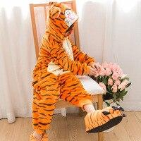 Fotografia Kid Chłopcy Dziewczyny Ubrania i Zabawy Kapturem Piżamy Pijamas Piżamy Flanelowe Piżamy Dla Dzieci Cartoon Zwierząt Tiger Cosplay