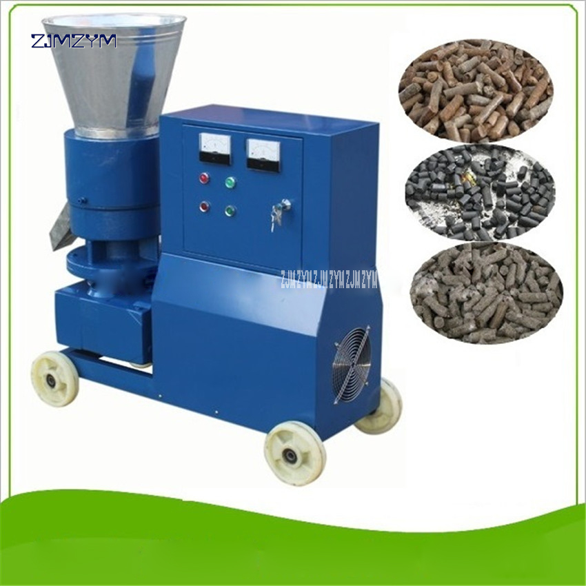 MKL225 Pellet Machine 120 150kg/h 380V 7.5KW Feed Pellets Machine large scale Granulator Wood Pellet Machine Wood Pellet Mill
