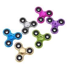 Ручной Spinner медь три Spinner непоседы игрушка EDC сенсорная Непоседа Spinner Для аутизма и СДВГ Дети/взрослых, смешные анти-стресс игрушки