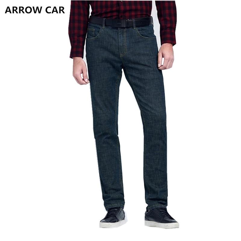 Стрела автомобиля для мужчин модные повседневные джинсы молодежи бизнес классический дикий прямой 2018 осень и зима Новый Джинсы для женщи