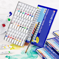 Japanese Sakura brand translucent watercolor paint set 24 color tube 12 color beginner hand painted watercolor paint