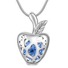 Лидер продаж eudora ожерелье с подвеской в виде яблока высококачественным