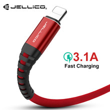 Jellico 3.1A Cable USB para iPhone 7 6X8 6 S plus 5 5S Cable Hola resistencia rápido cable de datos de carga cargador rápido para apple 1,2 M(China)