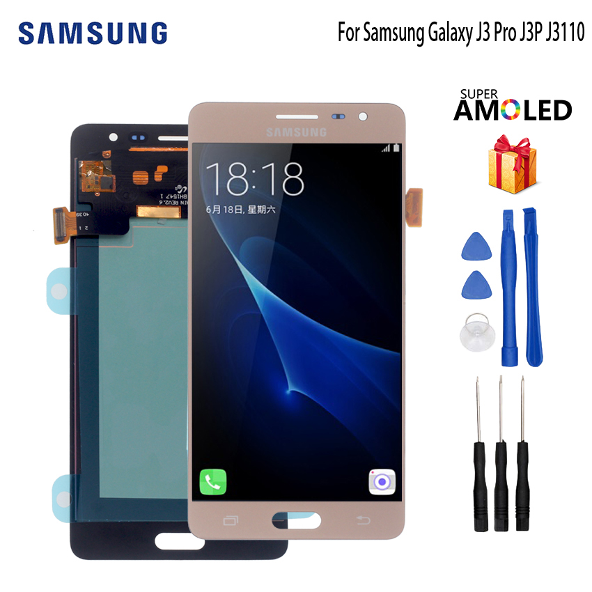 AMOLED For Samsung Galaxy J3 Pro J3P J3110 LCD Display Touch Screen Digitizer Display Screen LCD Phone Parts Free ToolsAMOLED For Samsung Galaxy J3 Pro J3P J3110 LCD Display Touch Screen Digitizer Display Screen LCD Phone Parts Free Tools