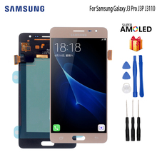 AMOLED For Samsung Galaxy J3 Pro J3P J3110 LCD Display Touch Screen Digitizer Display Screen LCD Phone Parts Free Tools все цены