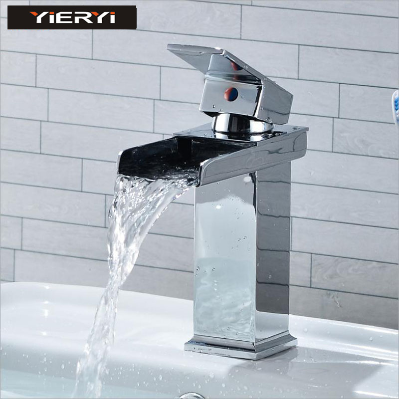 Yieryi Wrench Basin Faucet Sifang Sink Waterfall Faucet Single connected Bathroom Above Counter Basin Faucet Kitchen