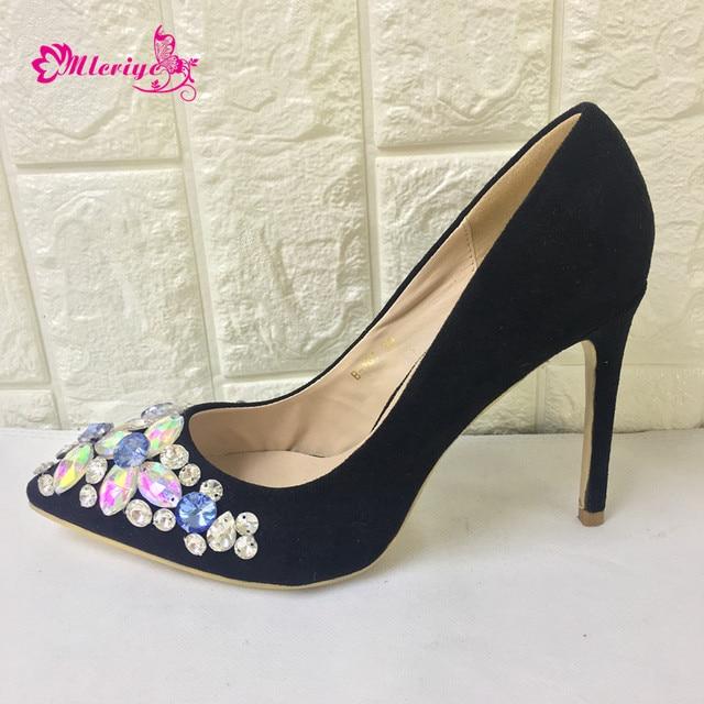 3df27bf6b4 BLACK Shoes African Wedding High Quality Fashion Elegant Italian Women Shoe  with Stone Heels Summer Pumps