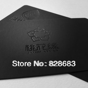 Image 3 - High quality black paper business card  300gms art paper from Belgium hot stamping foil UV spot 500 cards