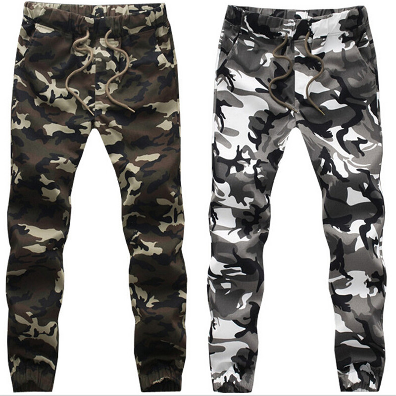 Mens Army Military Camouflage Pants, Casual Outwear Camo