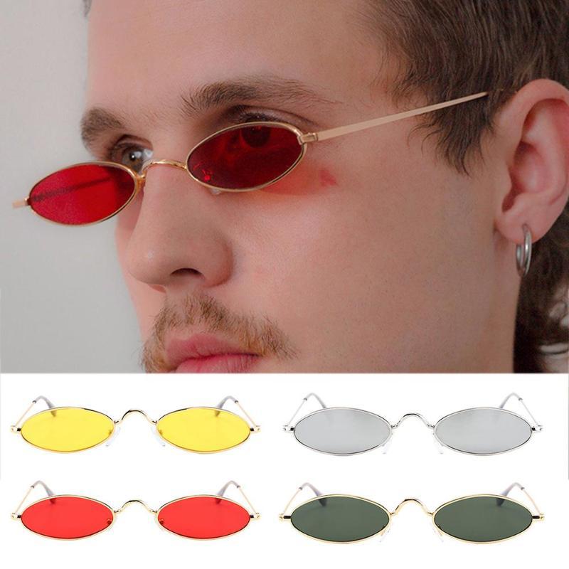 Retro Round Sunglasses For Women Men Small Oval Alloy Frame Summer Style Unisex Sun Glasses Female Male