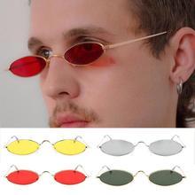 Gafas de sol redondas Retro Para mujer y hombre, montura pequeña de aleación ovalada, gafas de sol Unisex de estilo veraniego para mujer y hombre
