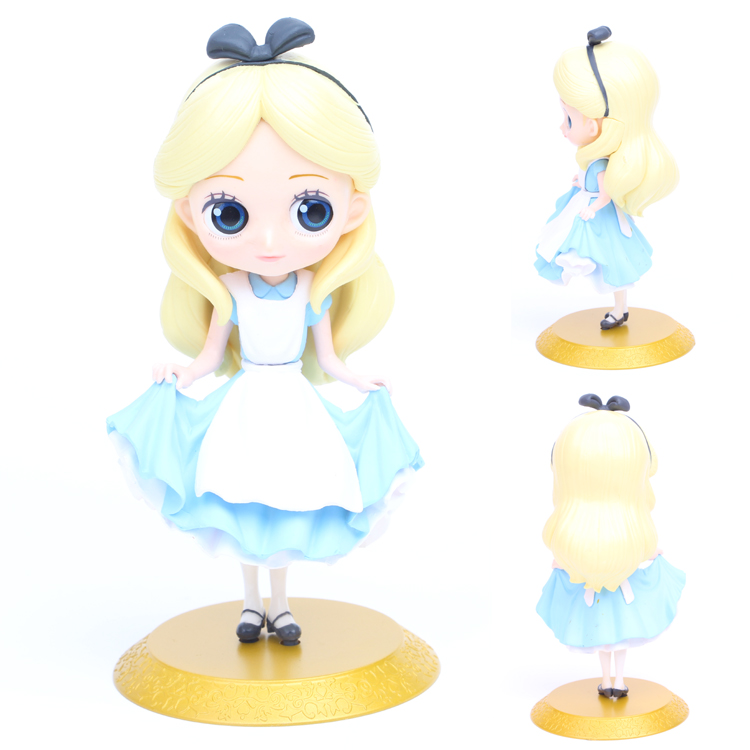 J Ghee Alice Q Posket Characters Alice Alice in Wonderland PVC Figure Collectible Model Toy Doll 15cm Gift