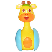 1pc Baby looking up training toy baby sliding rattle deer tumbler puzzle Learning Education gift