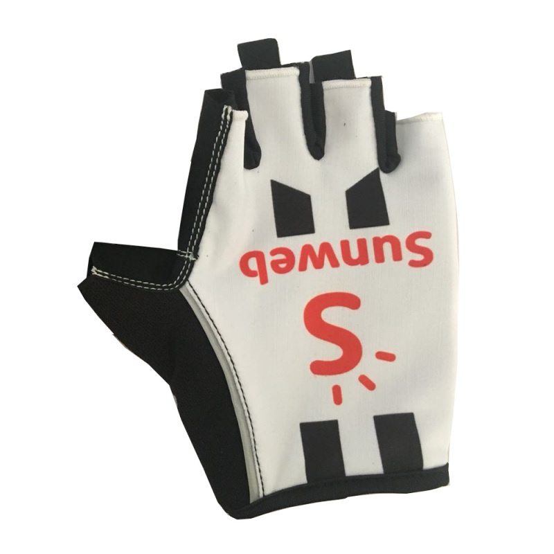 2018 pro team sunweb white Cycling gloves GEL pad mens high quality summer half finger mtb Bike gloves Size m L XL