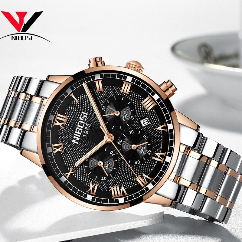 Image 3 - NIBOSI Mens Sport Watches Men Waterproof Luxury Brand Watch 2018 Fashion Full Steel Analog Quartz Wristwatch Relogio Masculino-in Quartz Watches from Watches
