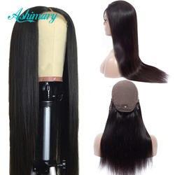 Ashimary Синтетические волосы на кружеве человеческих волос парики 4x4 закрытие кружева парики Реми парики из бразильского волоса прямые