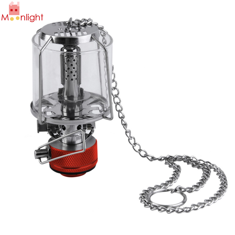 Mini 80LUX Outdoor Camping Lantern Portable Aluminum Gas Light Tent Lamp Torch Hanging Glass Lamp Chimney Butane Hanging Torch one light frosted glass antique rust hanging lantern