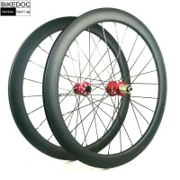 BIKEDOC Carbon Bike Wheel Carbon Road Wheelset Disc Brake Clincher 771 772 Hub Ruedas Carbono Bicicleta Carretera