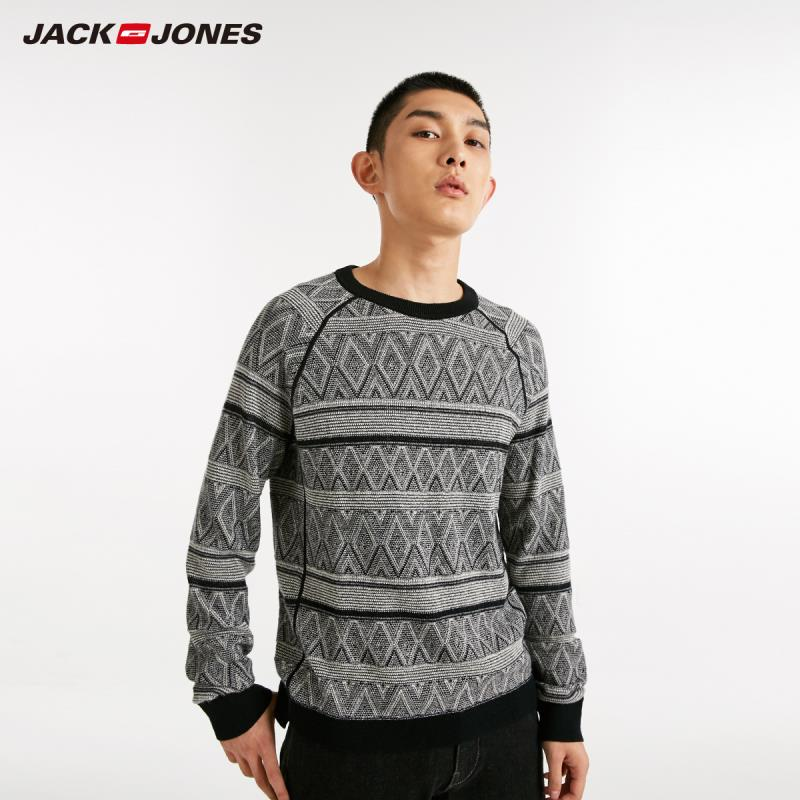 JackJones Autumn Men's Fashion Pattern Printed Casual Sweater Top 218324548