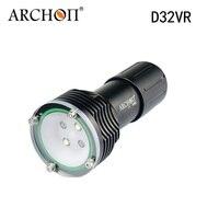 2 * קריס XM-L U2 צלילה ארכון D32VR Flashight לפיד 60 M מתחת למים 1400 לום לבן LED וידאו על ידי 2 סוללה ומטען