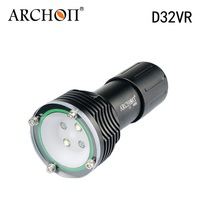 ARCHON D32VR 2*CREE XM-L U2 Diving Flashight Torch 60M Underwater 1400 lumen White LED video by 2 Battery and Charger(China)