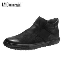 autumn winter British retro men high shoes boots trend of Korean mens casual leather Riding England