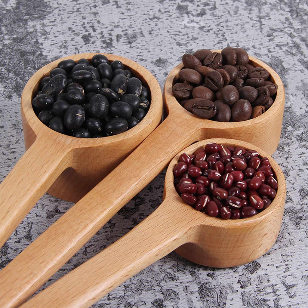 Ложка для кофе простая длинная ручка эвкалипта ложки для заправки десертные кофейные чайные ложки для дома ложки ложка для кофе 2019