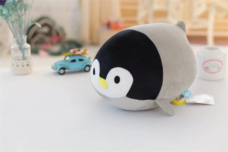 cute plush gray penguin toy cartoon penguin doll gift about 20cm 2599 ...