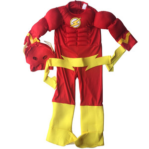 Image 2 - The flash Muscle Kids SHIRT comic Superhero fancy dress fantasia halloween costumes disfraces for child boys cosplay clothing