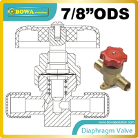 7/8diaphragm valves cover with counter seat to prevent the ingress of moisture replace CASTEL hand valve