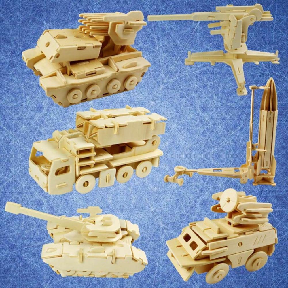 1 шт. 3D деревянные головоломки войны игрушки помогает развивать интеллект детей образов ...