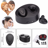 Mini Binaural Bluetooth Stereo Headset Invisible Wireless Bluetooth Earphone Hands Free Dual Ears Earbuds With Charging