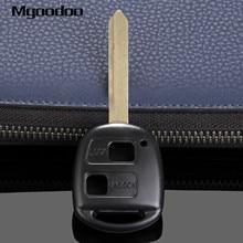 купить Mgoodoo 2 Buttons Replacement Keyless Entry Remote Key Shell Fob For Toyota Yaris Corolla RAV4 Uncut Blade Car Key Case Covers дешево