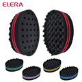 ELERA magic double side oval twist hair sponge,hair curl sponge brush for natural hair style,afro coil wave sponge brushes