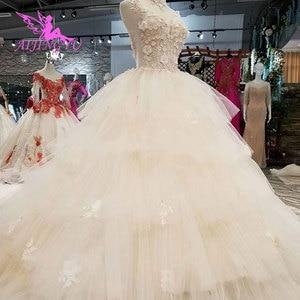 Image 5 - AIJINGYU Jumpsuit Wedding Dresses Destination Gowns Short Modest Sexy Real Photo Turkey Gown Top Wedding Dress Designers