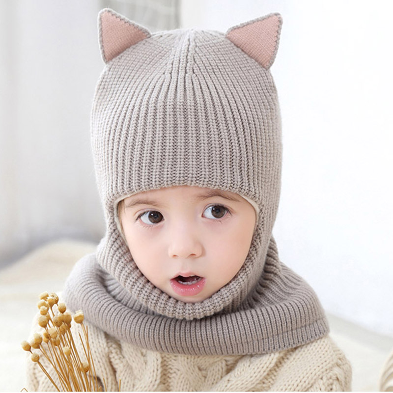 4574e5068de10 MAERSHEI 2018 new baby girl winter hat warm and velvet Beanies Knitted Cap  Kids Balaclava Mask Hats Gorras-in Skullies   Beanies from Apparel  Accessories on ...