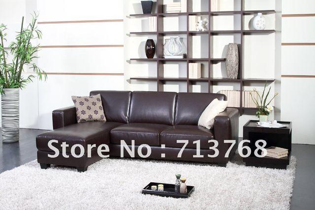 Mobilier moderne / salon canapé en cuir / canapé d\'angle MCNO428 ...