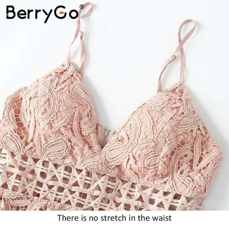 BerryGo с глубоким v-образным вырезом, с открытой спиной, белое кружевное платье, сексуальное открытое вечернее платье, vestido de festa, с подкладкой, летнее платье, женский сарафан