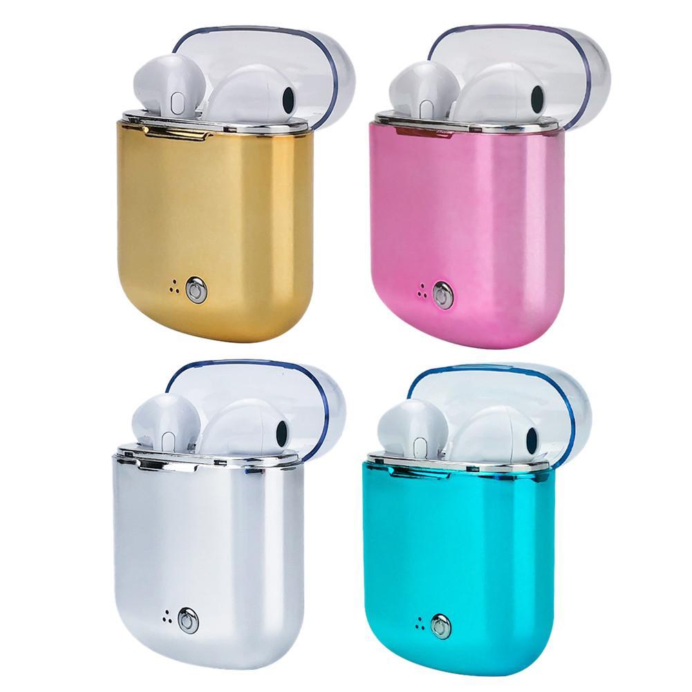 Binaural auricular inalámbrico Bluetooth TWS en la oreja de auriculares con carga Bin de auriculares para I7s Plus