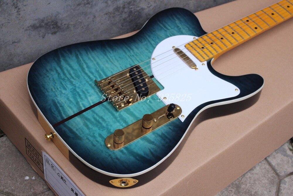 Top quality Custom Shop Merle Haggard Signature Tuff Dog TL Electric Guitar, SUPER RARE,Green burst, Free shipping