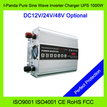 1000W Pure Sine Wave Inverter charger UPS 1000W DC to AC power inverter 12v 24v 48v dc to 220v ac 220v-240v ac Peak power 2000W