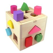13 отверстий Интеллект коробка геометрии Цифровой дом детей строительный блок Форма соответствия головоломки игрушка
