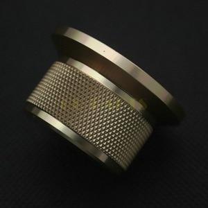 Image 2 - 1 PC 44*25mm złoty anodowane CNC obrabiane stałe aluminiowe pokrętło potencjometru dla DAC CDPlayer wzmacniacz głośnik objętość