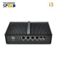 New Arrival 4 LAN Port Mini PC i3 i5 i7 1*COM 2*Wifi Antenna Intel 4005U Micro Computer Windows 10 Pfsense WAN Firewall Router