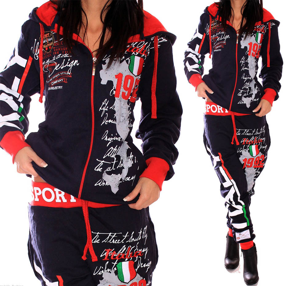2018 New Women Two Piece Set Tracksuit Outfits for Womens Clothes 2 Parts Hooded Sweatshirt and Pants Sets sweat suits women