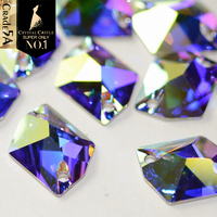 Deluxe Grade 5A Crystal AB 3256 Galactic 3265 Cosmic Glass Sew On Strass Sewing Stone Flatback